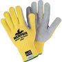 MCR Safety® Medium Cut Pro™ 7 Gauge DuPont™ Kevlar® And Leather Cut Resistant Gloves