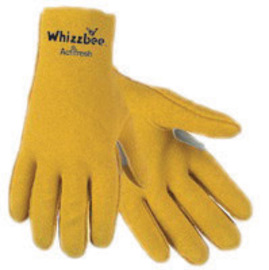 MCR Safety Large Whizzbee™ Yellow Vinyl Textured Work Gloves With White Jersey Liner And Scalloped, Slip-On Cuff