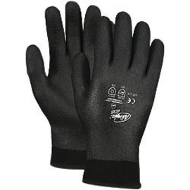 Memphis Glove Large Black Ninja® ICE FC 7 Gauge Acrylic Terry Lined General Purpose Cold Weather Gloves With Knit Wrist, 15 Gauge Nylon Shell And HPT Foam Sponge Fully Coated