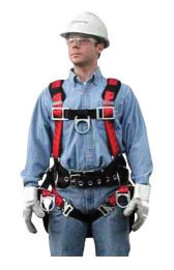 MSA Standard TechnaCurv® Full Body/Vest Style Harness With Secure-Fit Leg Strap Buckle And Padding Shoulder Sub-Pelvic