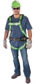 MSA X-Large TechnaCurv® Full Body/Pullover Style Harness With (1) Back, (2) Hip, (1) Chest D-Ring And Tongue Leg Strap Buckle