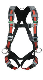 MSA Standard EVOTECH® Full Body Style Harness With Qwik-Connect Chest And Leg Strap Buckle, Back, Hip And Chest D-Ring And Shoulder Padding