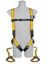 MSA X-Large EVOTECH® Full Body Style Harness With Qwik-Connect Chest And Leg Strap Buckle, Back And Chest D-Ring And Shoulder Padding