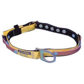 "MSA Small/Medium Nylon And 1 3/4"" Polyester Web Miner's Body Belt With Tongue Buckle, Fixed D-Ring And Straps For Battery And Repiratory Packs 