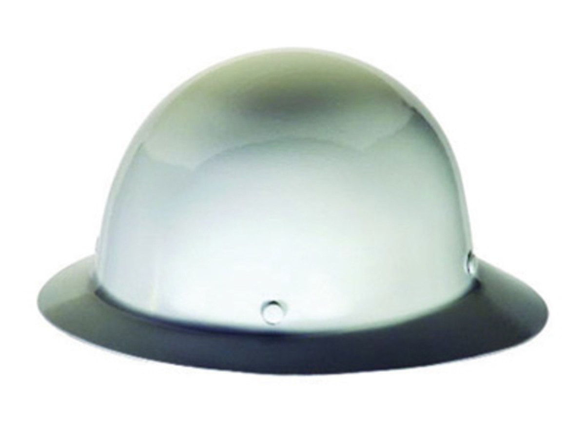 MSA White Phenolic Full Brim Hard Hat With 4 Point Ratchet Suspension bdcc6a38e720