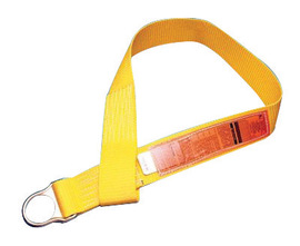 MSA 5' Nylon Anchorage Connector Strap With D-Ring And Sewn Loop | Tuggl