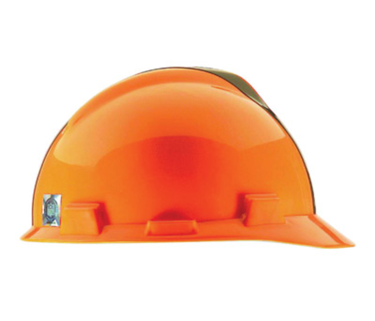 33703e110a3 MSA Brown Polyethylene Cap Style Hard Hat With 4 Point Pinlock Suspension