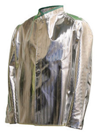 National Safety Apparel® X-Large Silver Aluminized Acrysil Coat With Snap Front Closure