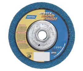 "Norton® 4 1/2"" X 2-Ply X 5/8"" - 11 100 - 120 Grit Medium Grade Aluminum Oxide Vortex® Rapid Blend U2305 Resin Bond Type 27 Depressed Center Abrasive Disc | Tuggl"