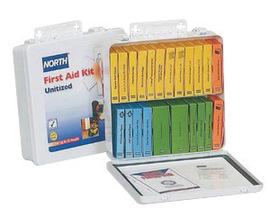 Honeywell North® White Steel Portable/Wall Mount 10 Unit Unitized First Aid Kit
