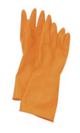 Honeywell Size 9 Orange AK Cleanroom 20 mil Unsupported Latex And Rubber Chemical Resistant Gloves