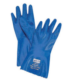 Honeywell Size 7 Blue Nitri-Knit™ Knit Lined Supported Nitrile Chemical Resistant Gloves