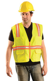OccuNomix X-Large Yellow Economy Value™ Polyester Vest With Front Zipper Closure