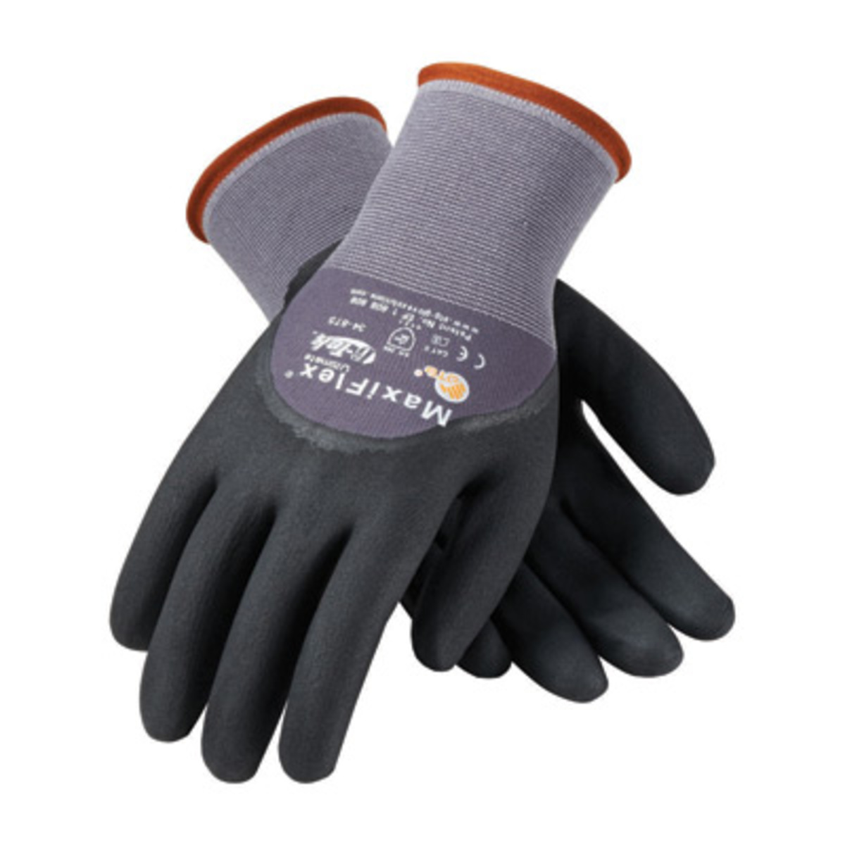 Black nitrile gloves xs - Protective Industrial Products X Small Maxiflex Ultimate By Atg 15 Gauge Abrasion