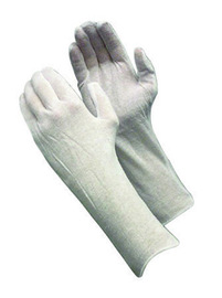 PIP® CleanTeam® Light Weight Cotton Inspection Gloves With Unhemmed Cuff