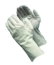 PIP® CleanTeam® Heavy Weight Cotton Inspection Gloves With Unhemmed Cuff