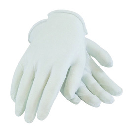 PIP® CleanTeam® Medium Weight Cotton Inspection Gloves With Rolled Hem Cuff