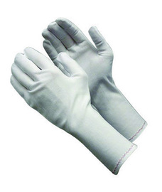 PIP® Large CleanTeam® Medium Weight Nylon Inspection Gloves With Rolled Hem Cuff