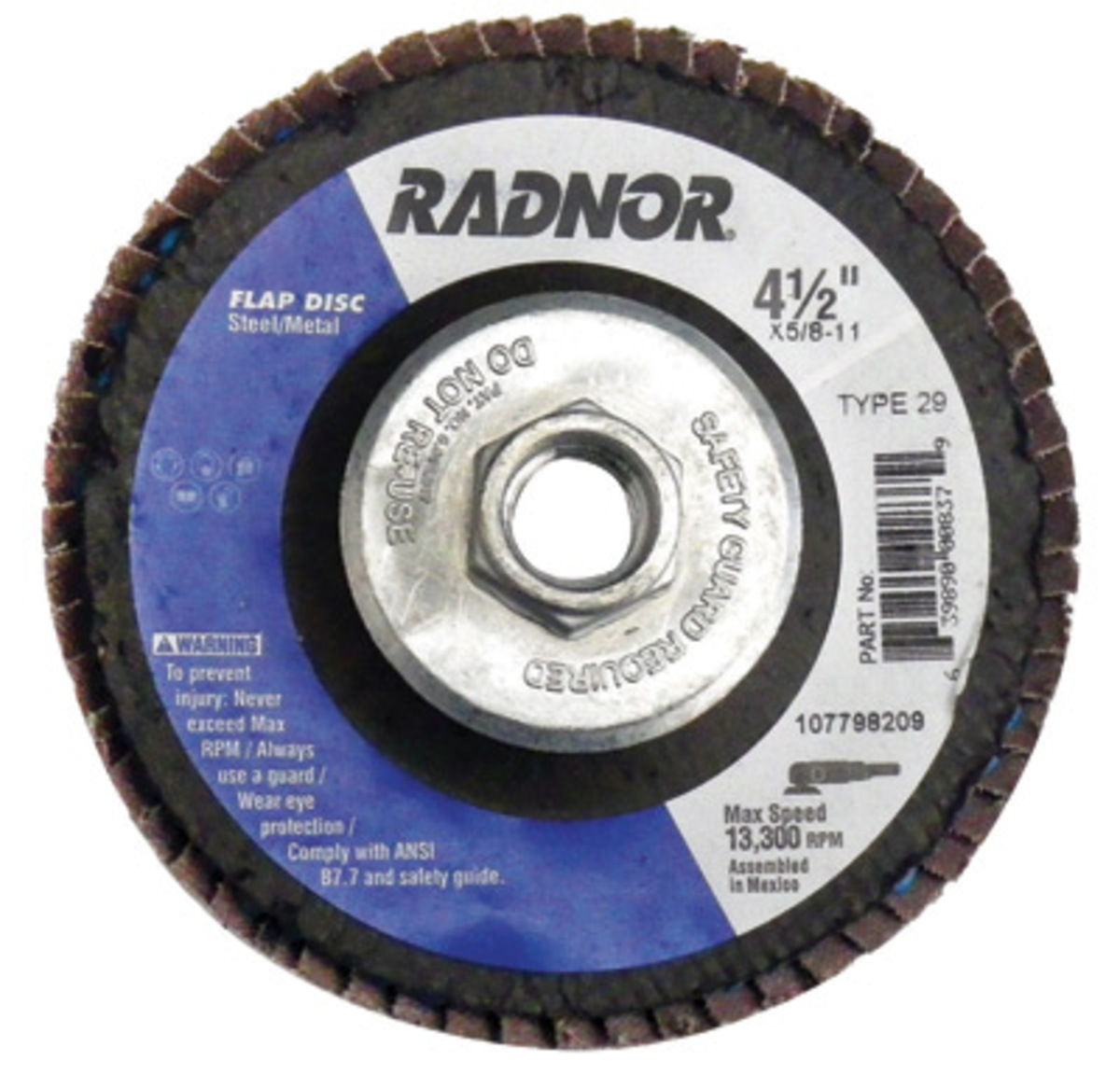25 EA Radnor 4 1//2 X .0400 X 7//8 A60T Aluminum Oxide Reinforced Type 1 Cut Off Wheel For Use With Right Angle Grinder On Metal