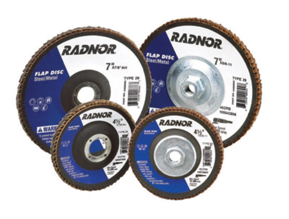 "Radnor 4 1//2/"" x .045/"" x 7//8/"" A60T Type 1 Cut-Off Wheel Steel//Metal 25 Pack"