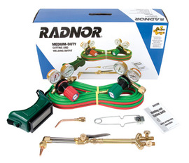 Radnor® Model 250-510LDX Victor® Style Radnor® Medium-Duty Acetylene Welding And Cutting Outfit, CGA-510 | Tuggl