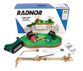 Radnor® Model 350-300DLX Victor® Style Radnor® Heavy-Duty Acetylene Welding And Cutting Outfit, CGA-300