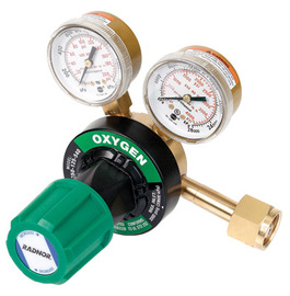 Radnor® Model 350-125-540 Victor® Style Heavy-Duty Oxygen Single Stage Regulator, CGA-540