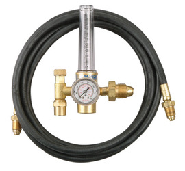 Radnor® Model HRF-1425-580 Victor® Style Single Stage Argon And Argon And Carbon Dioxide Mix Flowmeter Regulator Kit With 10' Hose, CGA-580
