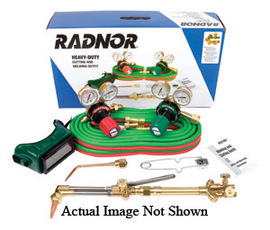 RADNOR® Model 350-510LP DLX Victor® Style RADNOR® Heavy-Duty Propylene Welding And Cutting Outfit, CGA-510LP