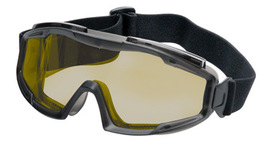 Radnor® Indirect Vent Splash Goggles With Gray Low Profile Frame And Amber Lens