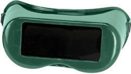 Radnor® Fixed Front Welding Goggles With Green Rigid Frame And Shade 5 Green 2