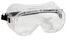Radnor® Direct Vent Dust Goggles With Clear Soft Frame And Clear Anti-Fog Lens (Bulk Packaging)
