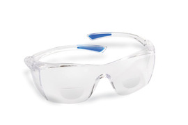 Radnor® Readers Series 1.5 Diopter Safety Glasses With Clear Frame And Clear Polycarbonate Anti-Scratch Lens