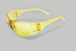 Radnor® Classic Series Safety Glasses With Amber Frame And Amber Polycarbonate Anti-Scratch Lens