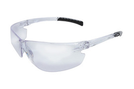 RADNOR® Classic Plus Series Safety Glasses With Clear Frame And Clear Polycarbonate Hard Coat Anti-Fog Lens