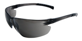 Radnor® Classic Plus Series Safety Glasses With Gray Frame And Gray Polycarbonate Hard Coat Lens