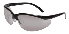 Radnor® Motion Series Safety Glasses With Black Frame, Clear Polycarbonate Indoor/Outdoor Scratch Resistant Lens And Adjustable Temples