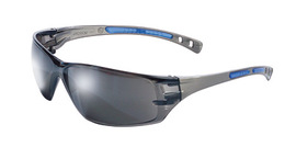 Radnor® Cobalt Classic Series Safety Glasses With Charcoal Frame, Silver Mirror Lens And Flexible Cushioned Temples