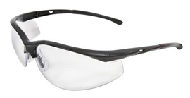 Radnor® Select Series Safety Glasses With Black Frame And Clear Anti-Scratch Lens