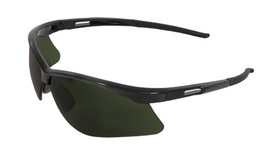 RADNOR® Premier Series IR Safety Glasses With Black Frame And Green And Shade 5 Polycarbonate Lens