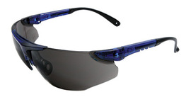RADNOR® Elite Series Safety Glasses With Blue Frame And Gray Lens