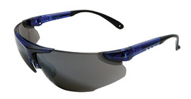 Radnor® Elite Series Safety Glasses With Blue Frame And Silver Mirror Lens
