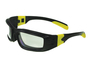 Radnor® Panzer™ Sealed Safety Glasses With Black And Yellow Frame And Clear Anti-Fog Lens