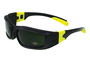 Radnor® Panzer™ Sealed Safety Glasses With Black And Yellow Frame And IRUV 5.0 Lens