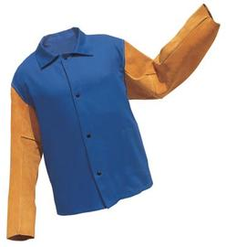 Radnor® 2X Blue Cotton Fire Retardant Jacket With Snap Front Closure