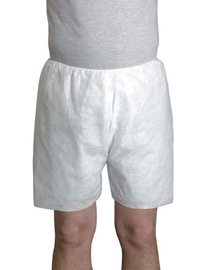 Radnor® One Size Fits Most White Spunbond Polypropylene Disposable Boxer Shorts