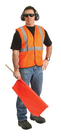Radnor® Large Orange Polyester Vest