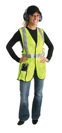 Radnor® Large Yellow Polyester Vest