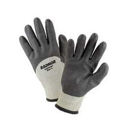 Radnor® Large Black And Gray PVC Acrylic/Nylon Lined Cold Weather Gloves