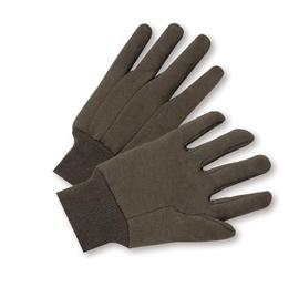 Radnor® Brown Large Premium Weight Cotton And Jersey Clute Cut General Purpose Gloves With Knit Wrist